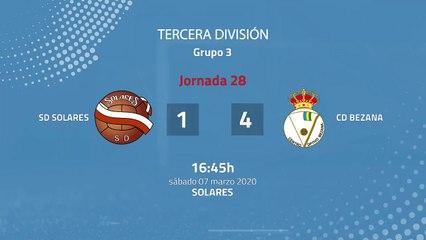 Resumen partido entre SD Solares y CD Bezana Jornada 28 Tercera División