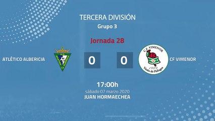 Resumen partido entre Atlético Albericia y CF Vimenor Jornada 28 Tercera División