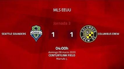 Resumen partido entre Seattle Sounders y Columbus Crew Jornada 3 MLS - Liga USA