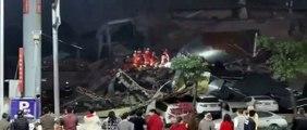 Chine - Un hôtel dans lequel se trouvaient des centaines de personnes en quarantaine s'effondre : Des dizaines de personnes sous les décombres