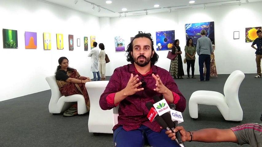 குழந்தை களின் கனவை சிதைத்து விடாதீர்கள்ஒவிய கலைஞர் ஷ்ரேயாஸ் சங்கர் Shreyas Shankar Aathmism art Exhibition   citycornerpaper Exculsive