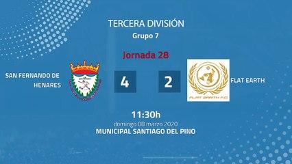 Resumen partido entre San Fernando de Henares y Flat Earth Jornada 28 Tercera División
