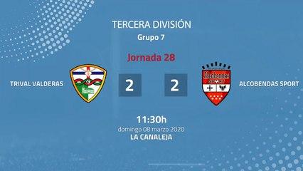 Resumen partido entre Trival Valderas y Alcobendas Sport Jornada 28 Tercera División