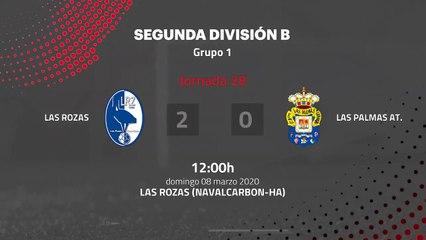Resumen partido entre Las Rozas y Las Palmas At. Jornada 28 Segunda División B