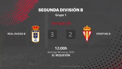 Resumen partido entre Real Oviedo B y Sporting B Jornada 28 Segunda División B