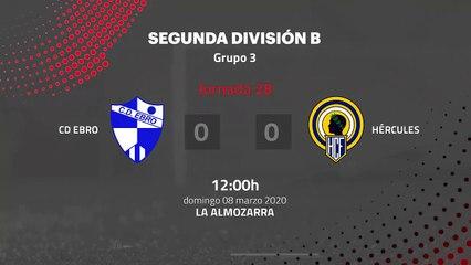 Resumen partido entre CD Ebro y Hércules Jornada 28 Segunda División B