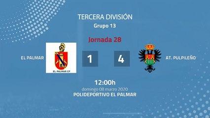 Resumen partido entre El Palmar y At. Pulpileño Jornada 28 Tercera División