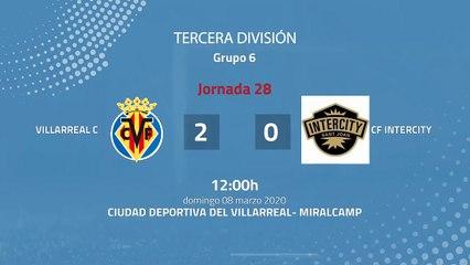 Resumen partido entre Villarreal C y CF Intercity Jornada 28 Tercera División