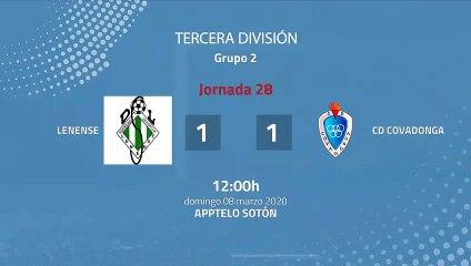 Resumen partido entre Lenense y CD Covadonga Jornada 28 Tercera División