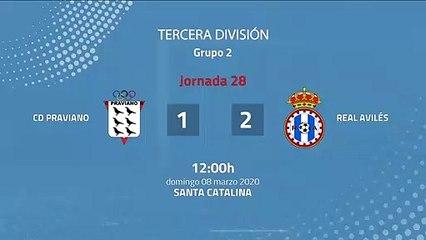 Resumen partido entre CD Praviano y Real Avilés Jornada 28 Tercera División