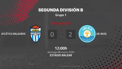Resumen partido entre Atlético Baleares y UD Ibiza Jornada 28 Segunda División B
