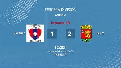 Resumen partido entre Navarro y Llanes Jornada 28 Tercera División