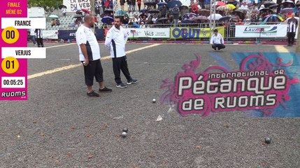 International à pétanque de Ruoms 2019 : Finale FRANCE vs VERJUS