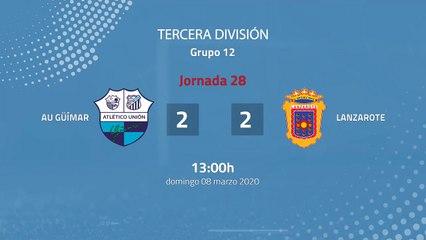 Resumen partido entre AU Güímar y Lanzarote Jornada 28 Tercera División