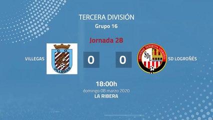 Resumen partido entre Villegas y SD Logroñés Jornada 28 Tercera División