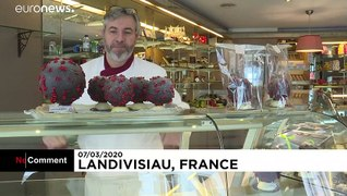 Chocolate coronavirus by French baker provokes smiles