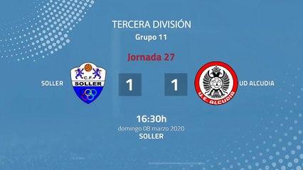 Resumen partido entre Soller y UD Alcudia Jornada 27 Tercera División