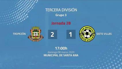 Resumen partido entre Tropezón y Siete Villas Jornada 28 Tercera División