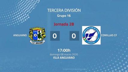 Resumen partido entre Anguiano y Comillas CF Jornada 28 Tercera División