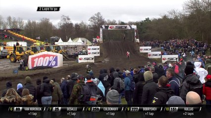 MXGP Race 2 Last Laps ft. Gajser Crash and Harlings Actions - MXGP of the Netherlands 2020