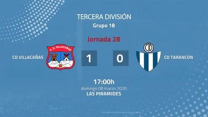 Resumen partido entre CD Villacañas y CD Tarancon Jornada 28 Tercera División