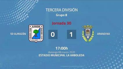 Resumen partido entre SD Almazán y Arandina Jornada 30 Tercera División