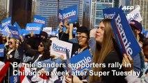 Bernie Sanders supporters rally ahead of Tuesday primaries
