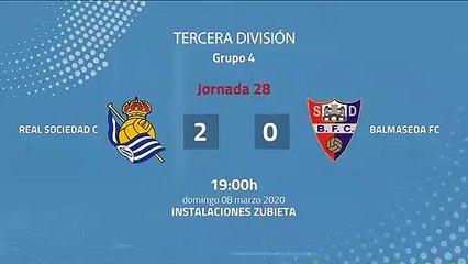 Resumen partido entre Real Sociedad C y Balmaseda FC Jornada 28 Tercera División