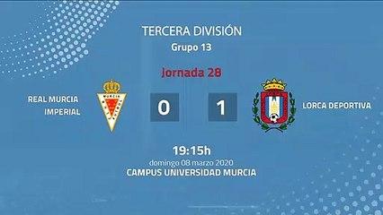 Resumen partido entre Real Murcia Imperial y Lorca Deportiva Jornada 28 Tercera División
