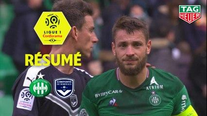AS Saint-Etienne - Girondins de Bordeaux (1-1)  - Résumé - (ASSE-GdB) / 2019-20