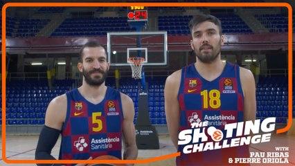 Shooting Challenge: Pau Ribas & Pierre Oriola, FC Barcelona
