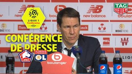 Conférence de presse LOSC - Olympique Lyonnais (1-0) : Christophe  GALTIER (LOSC) - Rudi GARCIA (OL) - 2019/2020