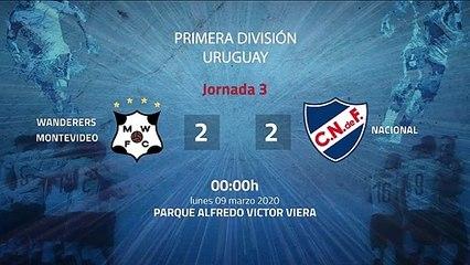 Resumen partido entre Wanderers Montevideo y Nacional Jornada 3 Apertura Uruguay