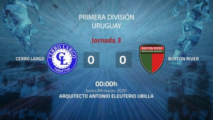 Resumen partido entre Cerro Largo y Boston River Jornada 3 Apertura Uruguay