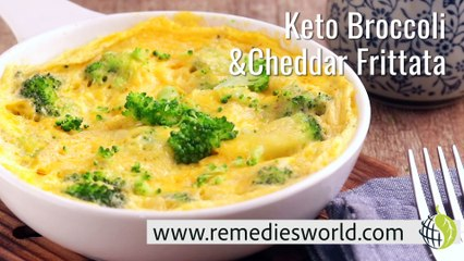 Keto Broccoli and Cheddar Frittata