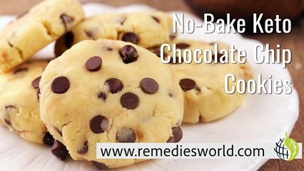 No-Bake Keto Chocolate Chip Cookies
