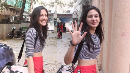 Amyra Dastur Spotted At Dance Class Khar