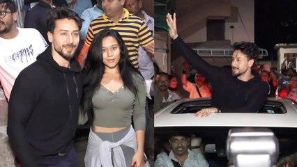 SHAME !Tiger Shroff gets manhandled by fans at Mumbai's Gaiety Galaxy Baaghi 3 !