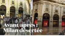 Les images de Milan, avant et après la mise en quarantaine à cause du coronavirus