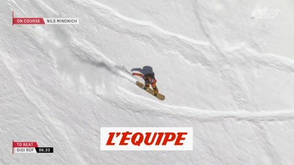 le run gagnant de Nils Mindnich en Autriche - Adrénaline - Snowboard freeride