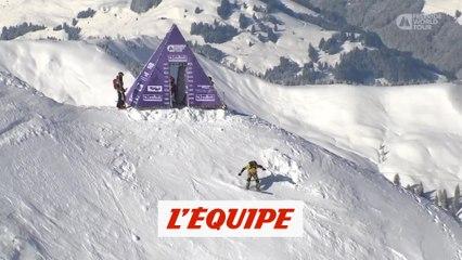 le run de Victor De Le Rue en Autriche - Adrénaline - Snowboard freeride