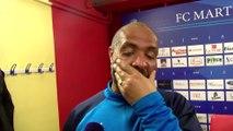 Le coach Eric Chelle quand on lui parle de la série d'invincibilité du FC Martigues à domicile