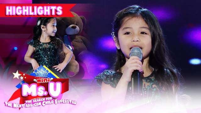 Aleia Payunan emerges as Mini Ms. U of the day | It's Showtime Mini Miss U