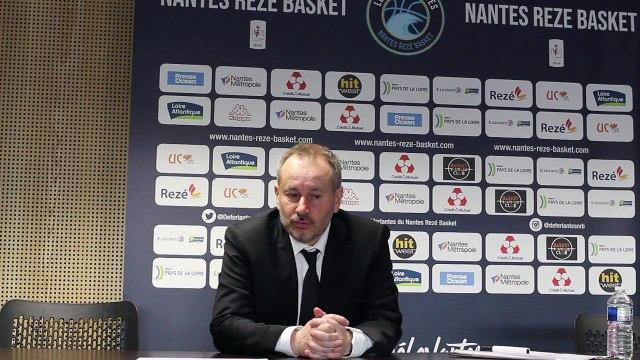 Conférence de presse après match NRB - Landerneau
