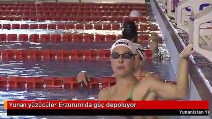 Yunan yüzücüler Erzurum'da güç depoluyor