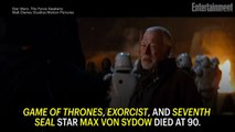 Max von Sydow, 'The Exorcist,' 'Seventh Seal,' 'Game of Thrones' Star, Dies at 90