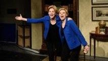 Elizabeth Warren and Kate McKinnon Take on Drake's 'Flip the Switch' TikTok Challenge on 'SNL   Billboard News