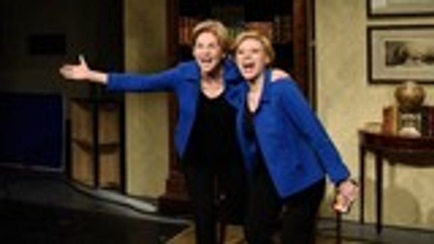 Elizabeth Warren and Kate McKinnon Take on Drake's 'Flip the Switch' TikTok Challenge on 'SNL | Billboard News