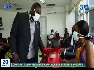 RTG/Covid 19 - Gabon télévisions applique les mesures barrières