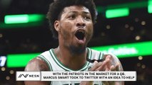 Marcus Smart, Danny Ainge Discuss Patriots QB Situation On Twitter